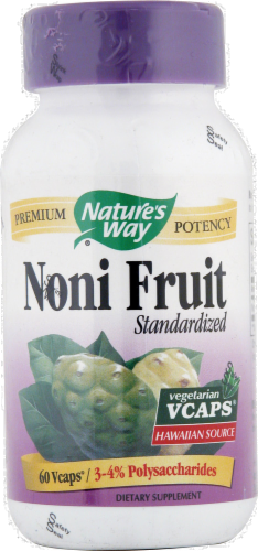 Nature's Way Noni Fruit Standardized Capsules Perspective: front