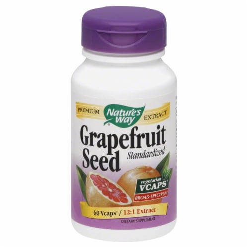 Nature's Way Grapefruit Seed Standardized Vcaps Perspective: front