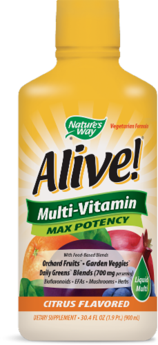 Nature's Way Alive! Whole Food Energizer Liquid Multi-Vitamin Perspective: front