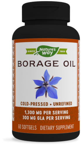Nature's Way Efa Gold Borage Softgels 1300 mg Perspective: front