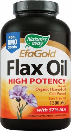 Nature's Way  EfaGold® Flax Oil Perspective: front