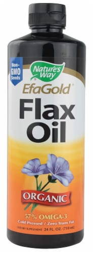 Nature's Way  Organic Flax Oil 57% Omega-3 Perspective: front