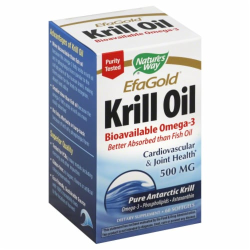 Nature's Way Efa Gold Krill Oil Softgels Perspective: front