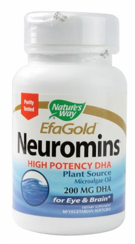 Nature's Way EFAGold Neuromins High Potency DHA Softgels 200mg Perspective: front