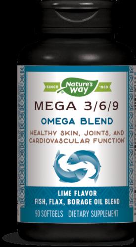 Nature's Way Mega Blend Lime Flavor Softels Perspective: front
