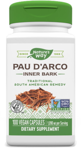 Nature's Way Pau D'arco Inner Bark Capsules 545 mg Perspective: front
