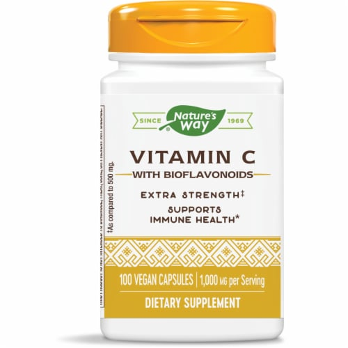 Nature's Way Vitamin C Vegetarian Capsules 1000mg Perspective: front