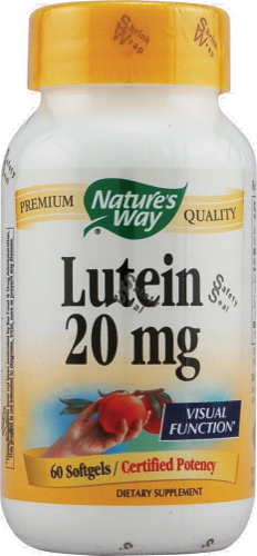 Nature's Way Lutein Softgels 20mg Perspective: front