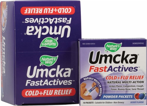 Nature's Way  Umcka FastActives® Cold Plus Flu Relief   Berry Perspective: front