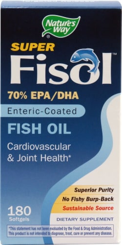 Nature's Way  Super Fisol® Fish Oil Perspective: front