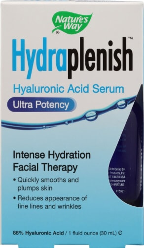 Nature's Way  Hydraplenish Hyaluronic Acid Serum Ultra Potency Perspective: front