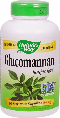 Nature's Way Glucomannan Root Capsules 665mg Perspective: front