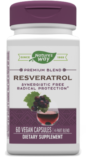 Nature's Way Resveratrol Vcaps 37.5mg Perspective: front