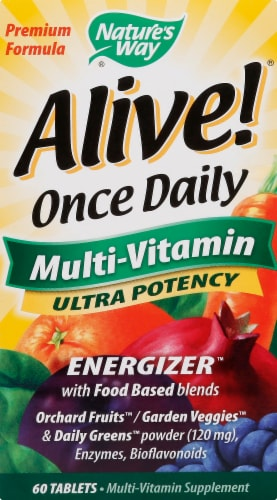 Nature's Way Alive! Once Daily Ultra Potency Multivitamin Perspective: front