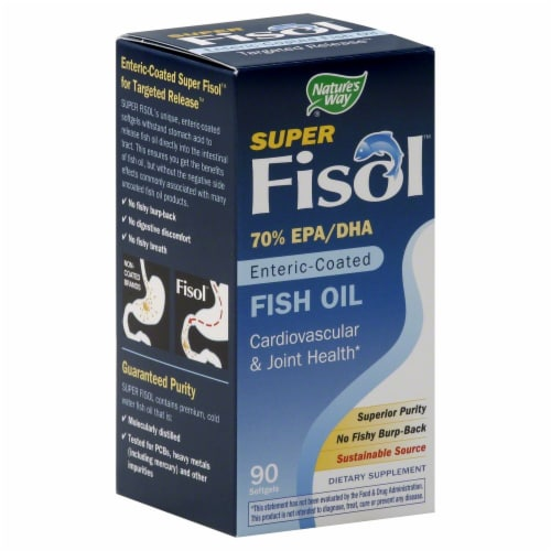 Nature's Way Super Fisol Fish Oil Softgels Perspective: front