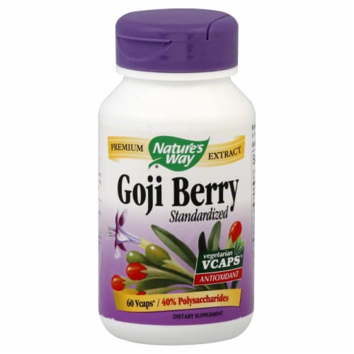 Nature's Way Goji Berry Standardized Vcaps Perspective: front