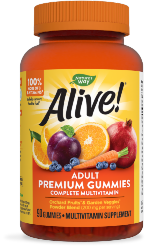 Nature's Way Alive! Adult Multi-Vitamin Gummies Perspective: front