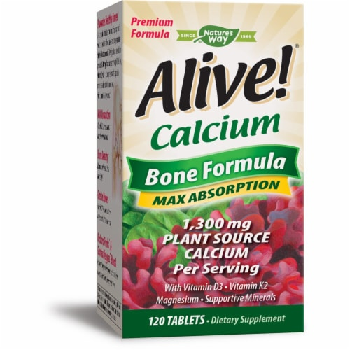 Nature's Way  Alive!® Calcium Bone Formula Perspective: front