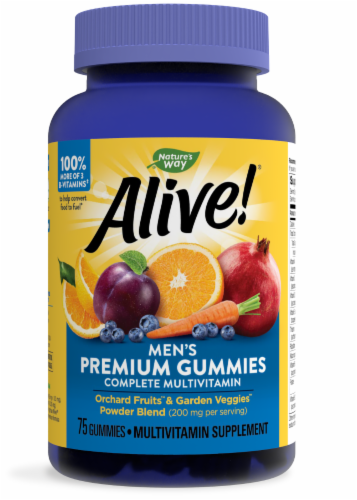 Nature's Way Alive! Men's Gummy Vitamins Perspective: front