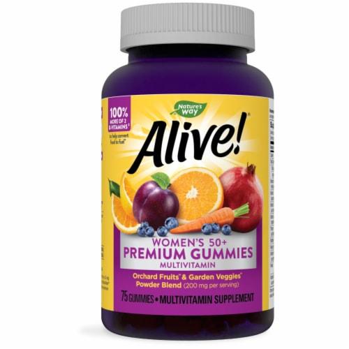 Nature's Way Alive Women's 50+ Orchard Fruits & Garden Veggies Gummy Vitamins Perspective: front