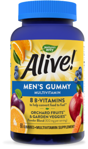 Nature's Way Alive! Men's Gummy Multivitamins Perspective: front
