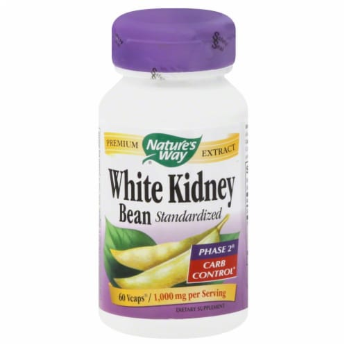 Nature's Way White Kidney Bean Standardized Phase 2 Carb Control Vcaps Perspective: front