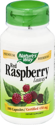 Nature's Way Red Raspberry Leaves Capsules Perspective: front