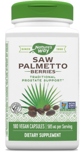 Nature's Way Saw Palmetto Berries 585mg Capsules Perspective: front