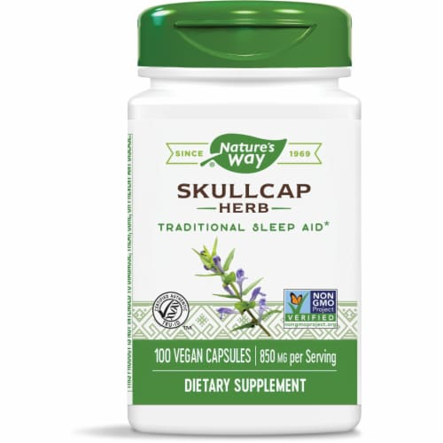 Nature's Way Scullcap Herb Capsules Perspective: front
