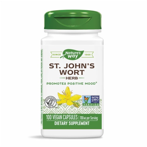 Nature's Way St. John's Wort Capsules 350mg Perspective: front