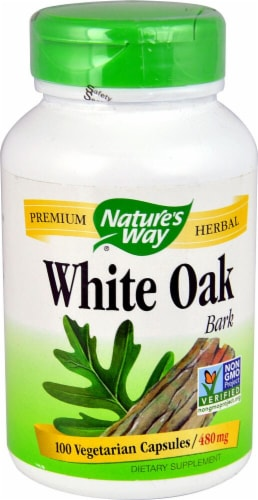 Nature's Way White Oak Bark 480 mg Perspective: front