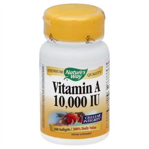 Nature's Way Vitamin A Softgels 10000IU Perspective: front