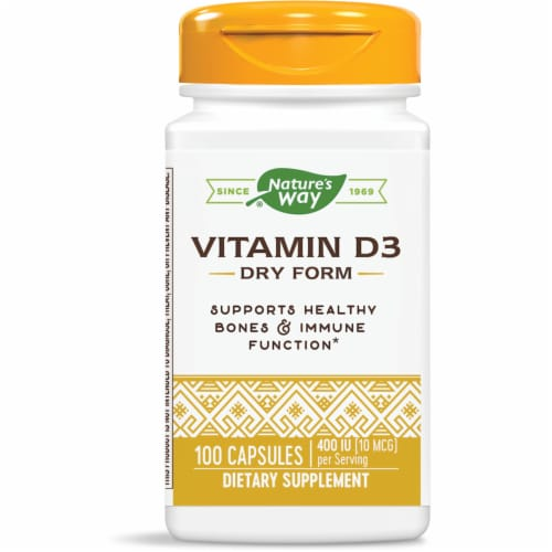 Nature's Way Vitamin D-400 Capsules Perspective: front