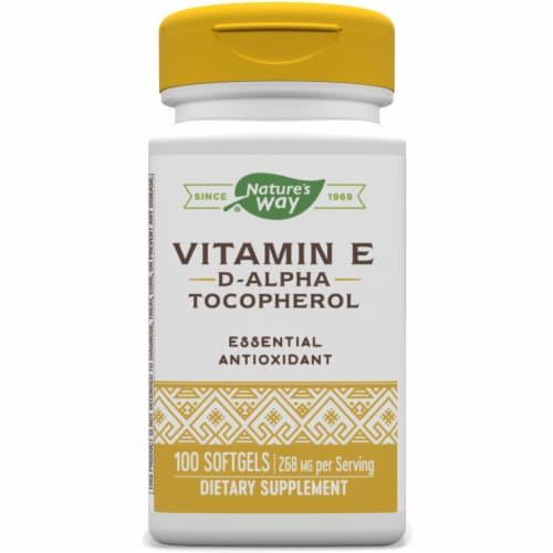 Nature's Way Vitamin E-400 Softgels Perspective: front