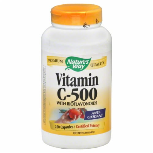 Nature's Way C-500 Capsules With Bioflavonoids 500 mg Perspective: front