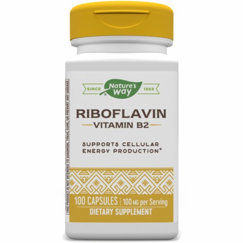 Nature's Way Vitamin B2 Capsules Perspective: front