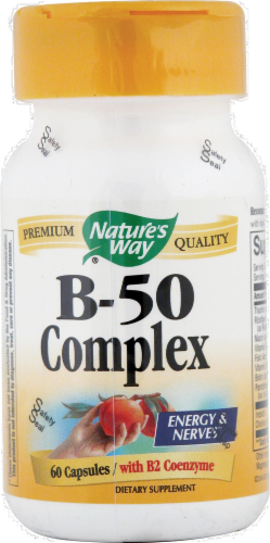 Nature's Way B-50 Complex Capsules Perspective: front