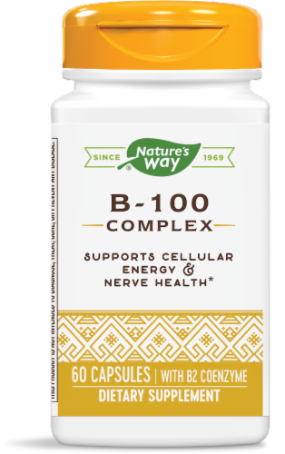Nature's Way B-100 Complex Capsules Perspective: front