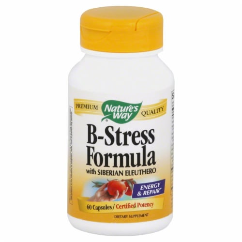 Nature's Way B-Stress Formula Capsules Perspective: front