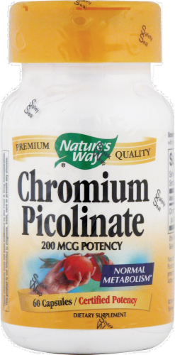 Nature's Way Chromium Picolinate 200 mg Capsules Perspective: front