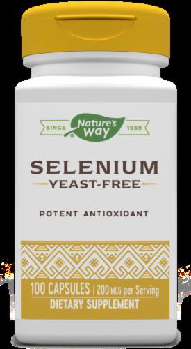 Nature's Way Selenium Yeast-Free Potent Antioxidant Capsules 200mcg Perspective: front