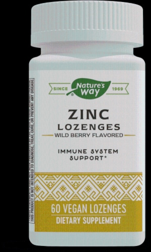 Nature's Way Zinc Lozenges Natural Berry Flavor Perspective: front