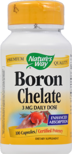 Nature's Way Boron Chelate Capsules Perspective: front