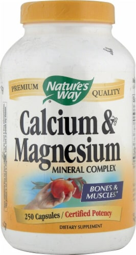 Nature's Way  Calcium and Magnesium Mineral Complex Perspective: front