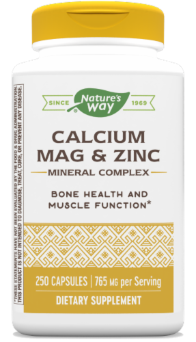 Nature's Way Calcium Magnesium and Zinc Capsules Perspective: front