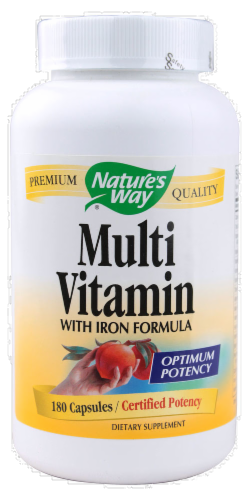 Nature's Way Multi Vitamin with Iron Capsules Perspective: front