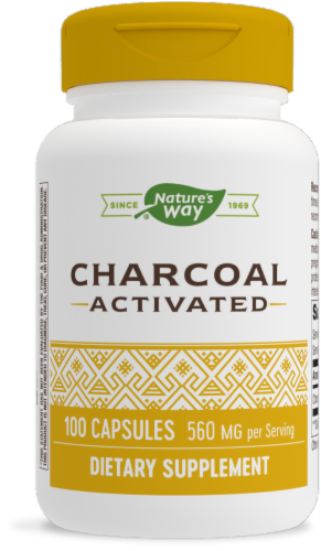 Nature's Way Activated Charcoal Internal Cleansing Capsules Perspective: front