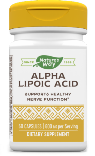 Nature's Way Alpha Lipoic Acid + Rosemary Capsules Perspective: front