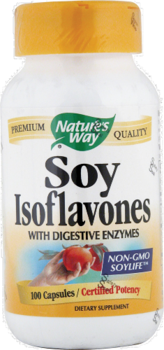 Nature's Way Soy Isoflavones Supplement Capsules Perspective: front