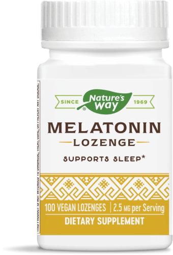 Nature's Way Melatonin Lozenge 2.5 mg Perspective: front